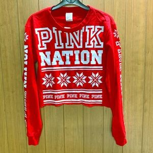 VS PINK Limited Edition Winter Crop Top